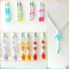 Collar-pendientes-con-cristales-multicolor-arcoiris-Rainbow-glass-jewelry