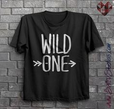 Wild One Arrow Short Sleeve Toddler T-Shirt Design, Hipster Boy or Girl Clothes, Funny, Modern Kids Clothing, Toddler Tee, Made to Order