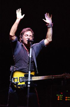 Bruce Springsteen--I don't want to meet him personally so much as I want to see his band perform live. But I mean, if I'm there, and he wants to chat... why not?
