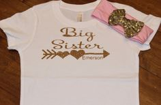Big Sister, Big Sister Shirt, Big Sister Heart Glitter Shirt, Big Sister Personalized Shirt, Glitter Shirt, Gold Glitter Shirt by PurpleAspen on Etsy Glitter Shirt, Gold Glitter, Big Sister Big Brother Shirts, Sisters By Heart, Personalized Shirts, T Shirts For Women, Trending Outfits, Unique Jewelry, Handmade Gifts
