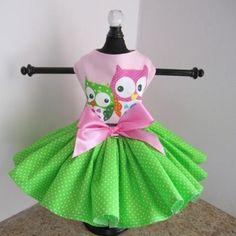 Pink Owl Dog Dress – Bark Label