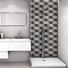 Merola Tile Traffic Hex 3D Grey 8-5/8 in. x 9-7/8 in. Porcelain Floor and Wall Tile (11.19 sq. ft. / case)-FCD103DX - The Home Depot