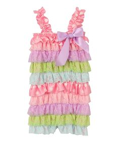 Look what I found on #zulily! Pink Polka Dot Ruffle Romper - Infant & Toddler by Sparkle Adventure #zulilyfinds