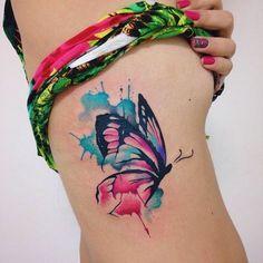 Divino Mariposa estilo acuarelas por Felipe Bernardes
