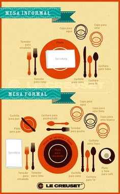 Formal e informal Good Manners, Table Manners, Cena Formal, Dining Etiquette, Etiquette And Manners, Meeting Planner, Le Chef, Dinner Table, Kitchen Hacks