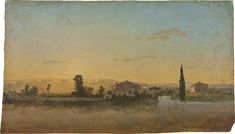 Thomas Jones (1742-1803), An extensive landscape with houses seen from the Porta…