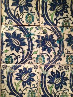Persian tile pattern Turkish Tiles, Turkish Art, Turkish Design, Tile Art, Mosaic Tiles, Tiling, Cement Tiles, Wall Tiles, Islamic Tiles