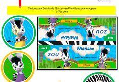 Kit Imprimible Zou La Cebra Diseñá Tarjetas Cumples Y Mas - $ 34,98 en MercadoLibre