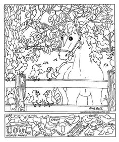 Free, Printable Hidden Picture Puzzles for Kids