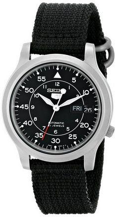 8cb880bf3bd Online Seiko Men s SNZG15 Seiko 5 Automatic Black Dial Nylon Strap Watch