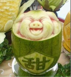 Wassermelone Schwein