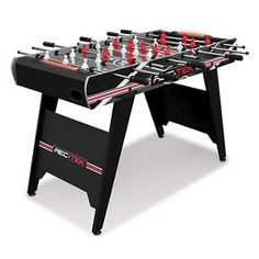 The Rec-Tek™ 48in Foosball Table with LED Scoring is a must-have for any youth game room. Get the game going in just minutes with easy setup and construction! Complete with steel player rods and comfort grips, create the perfect opportunity to strike the ball into the back of your opponent's goal! Light-up the scoreboard — LED lights behind the goal glow as they keep score for you! With cold weather right around the corner, take the party inside.  Spin, strike, an...