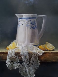 white pitcher still life classical realism - Google Search