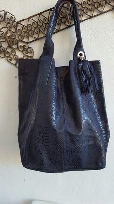 Wildstar Blue Snakeskin Tassled Tote bag Autumn 2016