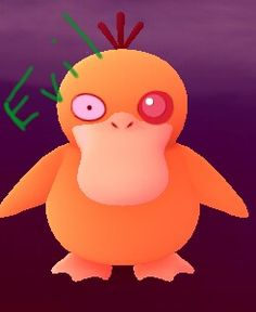 """ oh no! A wild Evil psyduck has appeared"""