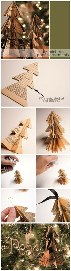 cute paper tree ornament