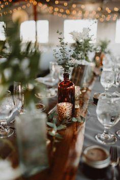 New Ideas succulent wedding table decorations mercury glass Wedding Reception Decorations, Wedding Centerpieces, Wedding Favors, Floral Wedding, Wedding Flowers, Green Wedding, Deco Champetre, Bottle Centerpieces, Mercury Glass Centerpiece