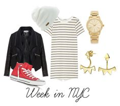 """""""Week in NYC #2"""" by chere-nobler on Polyvore featuring Zizzi, Clu, Converse, Coal, Michael Kors and Bling Jewelry"""