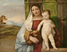 Tiziano Vecellio, called Titian - La Vierge d'Égypte 1510-1511, Vienne. Gipsy Madonna - Google Art Project - Titien — Wikipédia