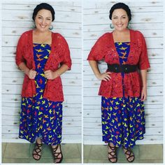 Adding a belt to your LuLaRoe Maxi skirt as a dress with a Lindsay Kimono can