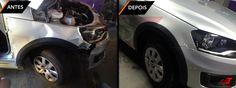 Restauração Saveiro: >Troca e pintura parachoque dianteiro; >Troca e pintura paralama direito; >Retoque capô; >Retoque porta direita.