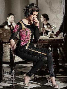 Black Color Heroine Priyanka Chopra Dress Collection