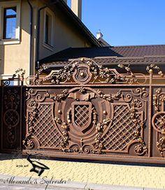 Кованые ворота - Крепость, фото 2.  #ковка #кузня #художественнаяковка #кованыеворота #ковка #кованые #дизайн