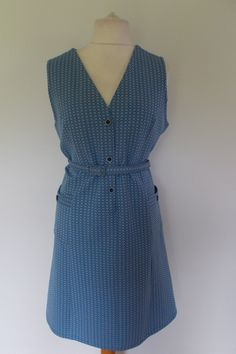 Vintage 60s blue Mod Scooter dress size extra large XL by BidandBertVintage on Etsy