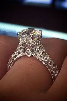 "18 Amazing Ornate Engagement Rings That Will Make You Say ""I Want That!"""