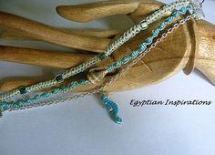Sea shell friendship bracelet. Macrame by EgyptianInspirations, $26.99