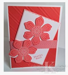 "Fresh Blooms is made with Stampin' Up's ""Bloom for You"" and ""Six-Sided Sampler"" stamp sets."