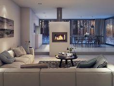 bilder tips hytte inspirasjon fjellet peis arbete senast Varmefag Helena Oversized Mirror, Sofa, Style Inspiration, Furniture, Design, Fireplaces, Home Decor, Free, Fireplace Set