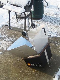 Solar cooking with a Sun Oven. Love this! Want to get one soon.