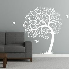 Cherry Walls - Singing Tree Wall Decal - Create a magical sanctuary with this fanciful wall decal. Made of removable matte vinyl, the gracef...