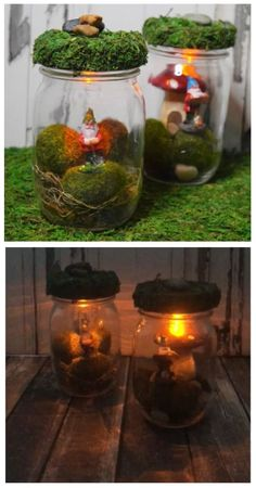 Can you catch a gnome? You and the kids can easily make these DIY Light Up Gnome Mason Jars with flickering lights! Can you catch a gnome? You and the kids can easily make these DIY Light Up Gnome Mason Jars with flickering lights! Mason Jars, Mason Jar Crafts, Crafts With Jars, Mason Jar Garden, Glass Jars, Diy Luz, Kids Crafts, Diy And Crafts, Fairy Crafts