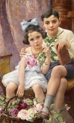 Franz Dvorak (1862-1927). The Siblings.