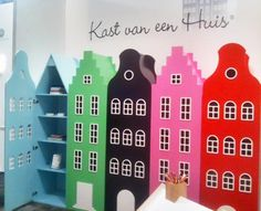 Jason could make these house-shaped wardrobes for a kid's room! (Canal house closets by Netherlands-based Kast van een Huis)