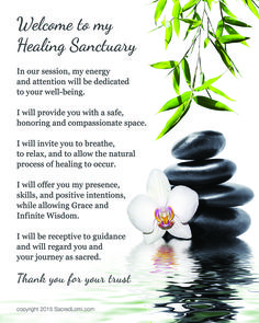 White Orchid, Zen Rocks: Sacred words carry the energy and vibration of sacred healing. Share these words with your clients to invite them into your healing sanctuary.