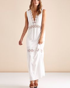Suboo Stevie Lace Maxi Dress in ivory - Clothing - Birdmotel Online Store