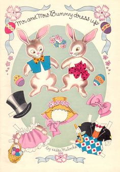 Mr. and Mrs. Bunny by Hilda Miloche
