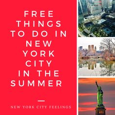 Free Things to Do in New York City in the Summer Walk across the Brooklyn Bridge – This bridge is definitely worth admiring in person; it's a gorgeous piece of engineering. Catch a free concert at...
