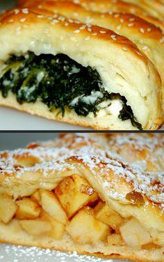 Cooking with Zoki: Jedno testo a dve vrste pita New Recipes, Dinner Recipes, Dessert Recipes, Cooking Recipes, Favorite Recipes, Cake Recipes, Bosnian Recipes, Croatian Recipes, Bread Dough Recipe