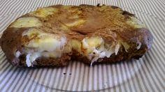 Link permanente da imagem incorporada Panqueca gordinha ou bolo de frigideira, de cacau e banana com canela.