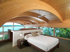 LOVE lofted bedrooms with no walls.