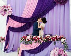 Wedding Costs, Budget Wedding, Reception Decorations, Backdrop Decorations, Wedding Centerpieces, Centerpiece Flowers, Bridal Show, Purple Wedding, Wedding Ceremony