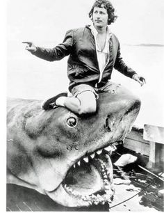 """Steven Spielberg in the making of """"Jaws"""" (1975)"""