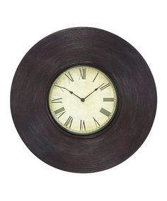 Take a look at this Bamboo Wall Clock by UMA Enterprises on #zulily today!
