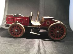 Vintage Antique Tin Hessmobile truck with flywheel Germany 1920s