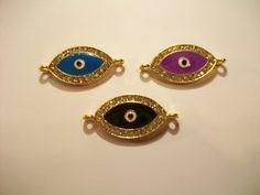 Evil Eye Rhinestones Assortment Charm Pendant by TheEiffelTeaRoom, $6.59