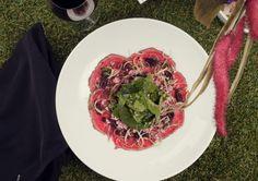 Close up Carpaccio de Res en Daniel Dine and Wine  #SuTerceraCasa #Carpaccio #Bogotá #Gastronomía